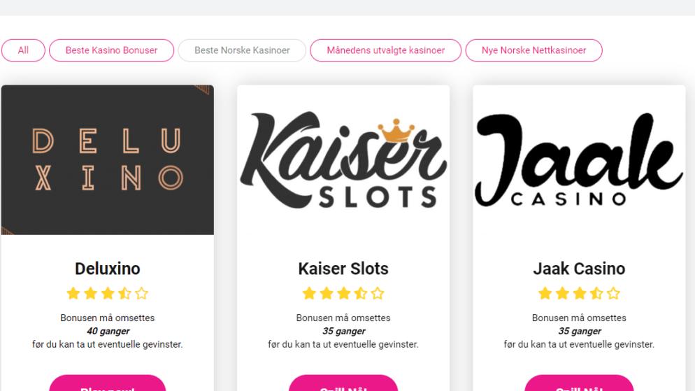 Nye nettcasino i Norge – Full oversikt
